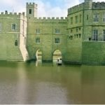 Leeds castle and mote.