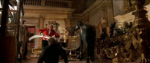 Agent Cody Banks 2 Destination London at Cobham Hall - characters fighting in a grand hall
