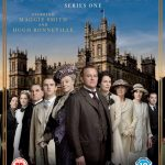 Downton Abbey series 1 DVD cover - the cast standing in front of the grand house