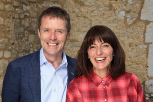 Davina McCall and Nicky Campbell smiling at camera