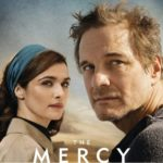 Colin Firth and Rachel Weisz in The Mercy Official Poster close up of faces looking into distance