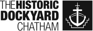 Black and white logo of The Historic Dockyard Chatham