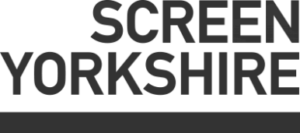 Screen yorkshire logo- Screen yorkshire written in grey text with a line underneath