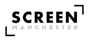 Screen Manchester logo- screen in black text, manchester in grey underneath. Two rectangles on the outside top right and bottom left.