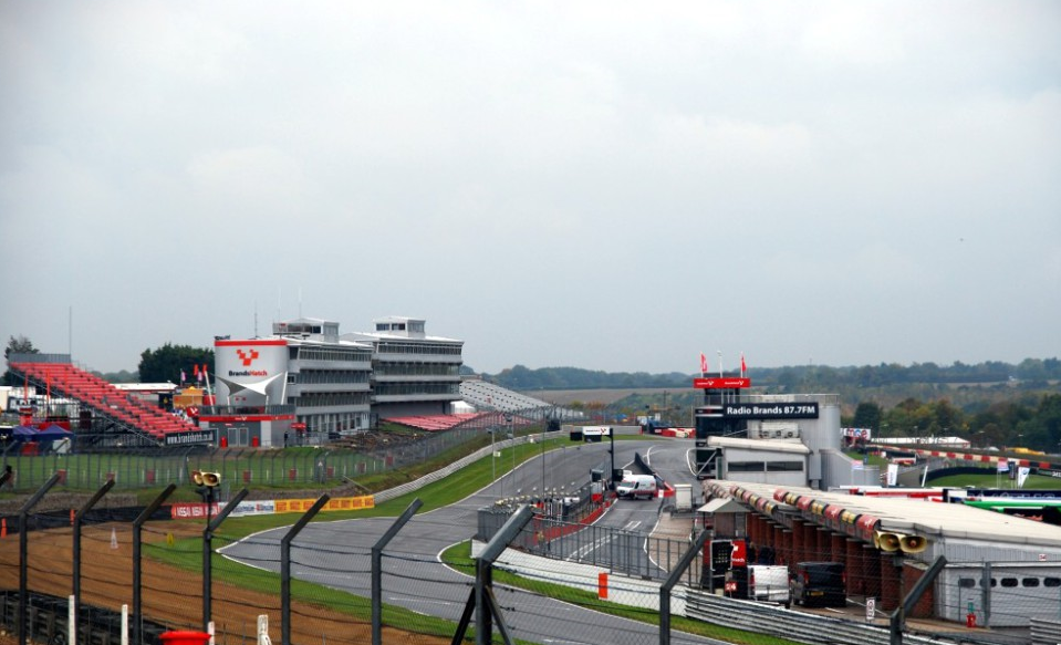 Overview image of the entire racecourse with grey skies pictured in the background of the racecourse.