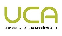 University for the Creative Arts logo- UCA written in green with University for the Creative Arts written underneath in black. Links to their website.