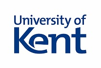 University of Kent Logo- University of Kent written in blue on a white background. Links to their website.